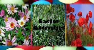 flowers, Easter eggs
