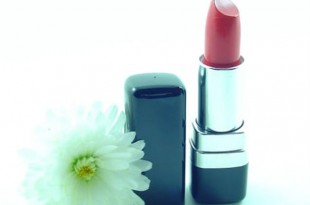 lipstick and daisy
