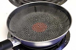 Pan of simmering water