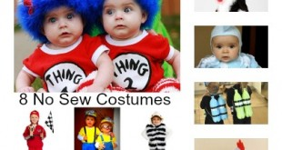 8 No Sew Kid Halloween Costumes