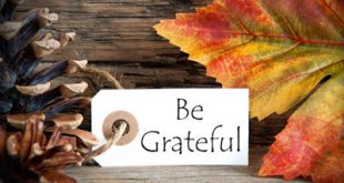 thanksgivinggratitude: be grateful sign