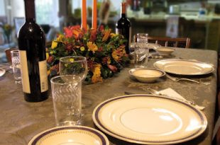 A Table set for thanksgiving