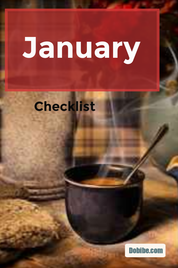 The January Checklist focuses on wrapping up Christmas and quarterly maintenance chores.