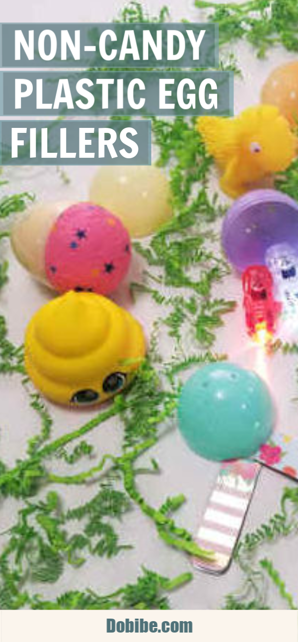Looking for non-candy plastic egg fillers? Here is a list of fifty items I found that will fit into a jumbo plastic Easter eggs. Ideas for babies to teens.