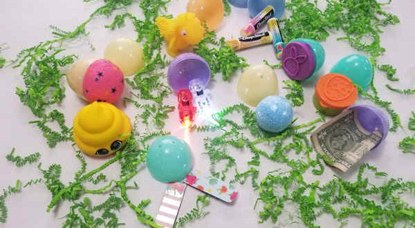 Non-candy plastic egg fillers