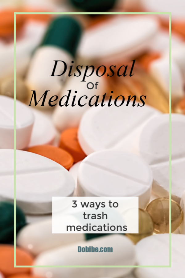 How to dispose of used and expired medications that is safe and DEA approved.