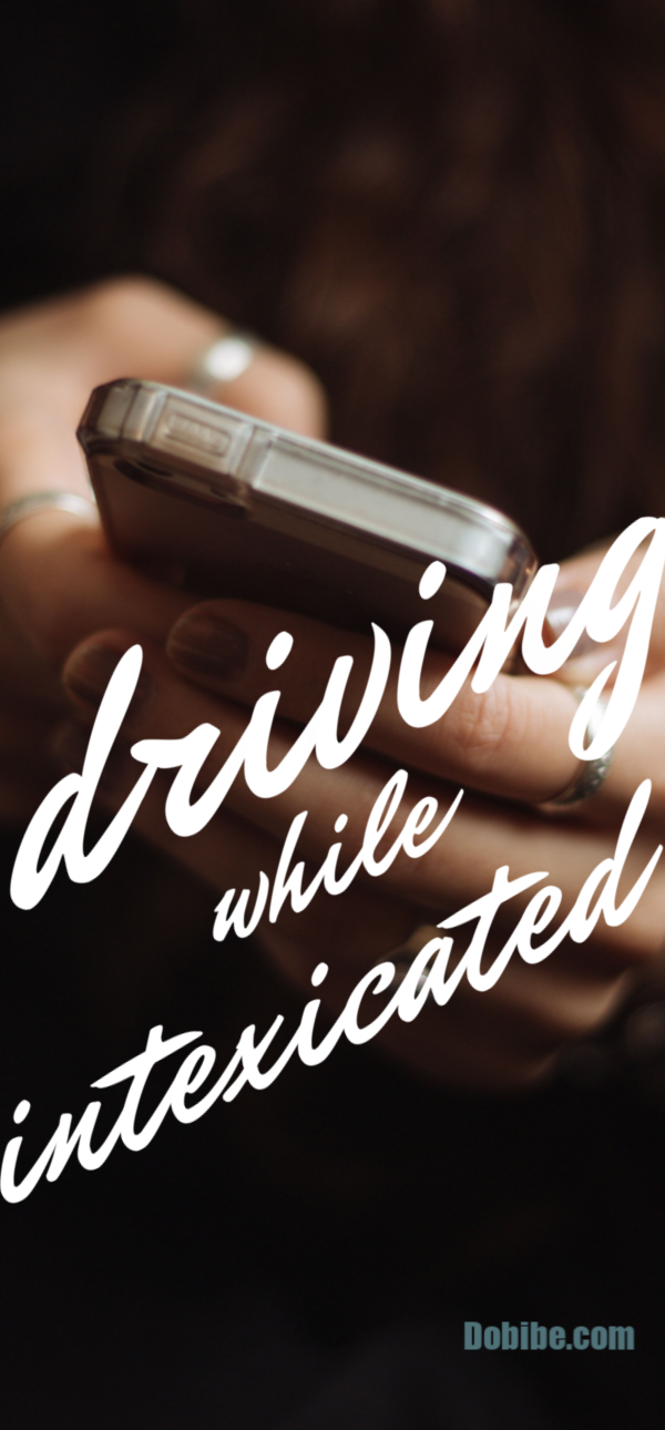 Intexicated is another form of distracted driving where the person is taking their eyes off the road to text.