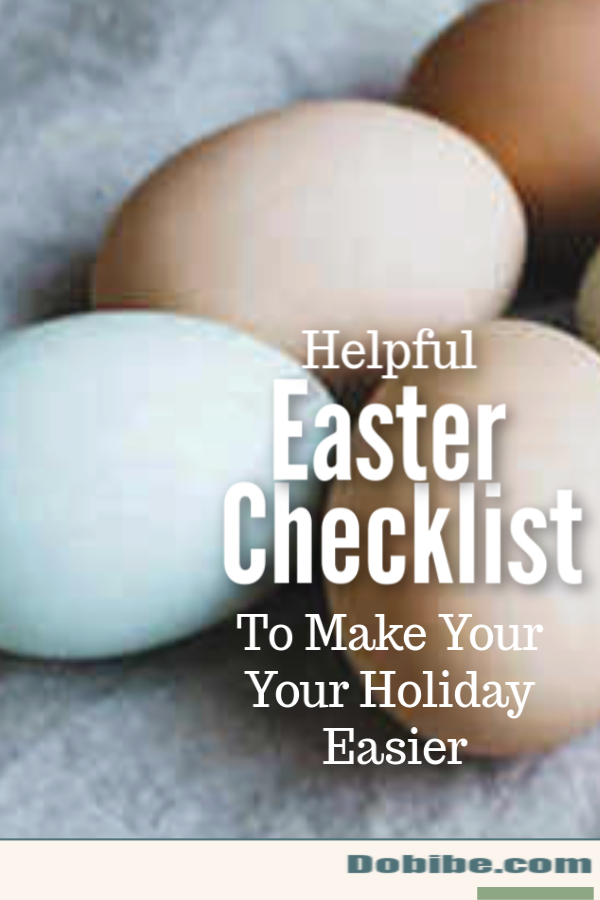 Easter checklist that makes planning for Easter simple. Bonus forms that help you keep track of your lists.