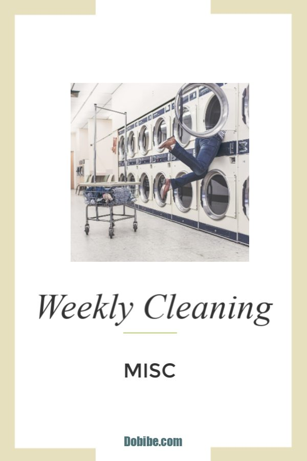 Misc Weekly Cleaning List